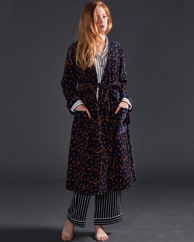 winter leopard robe