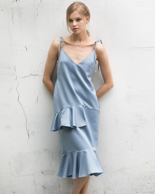 slip dress _ blue