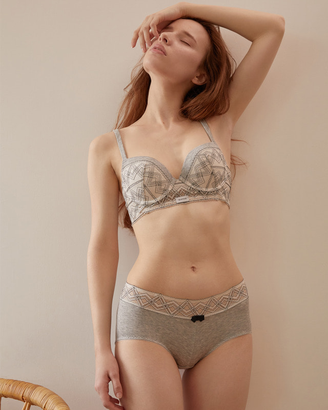 geometry lace semilong _BR+PT set  지오메트리레이스